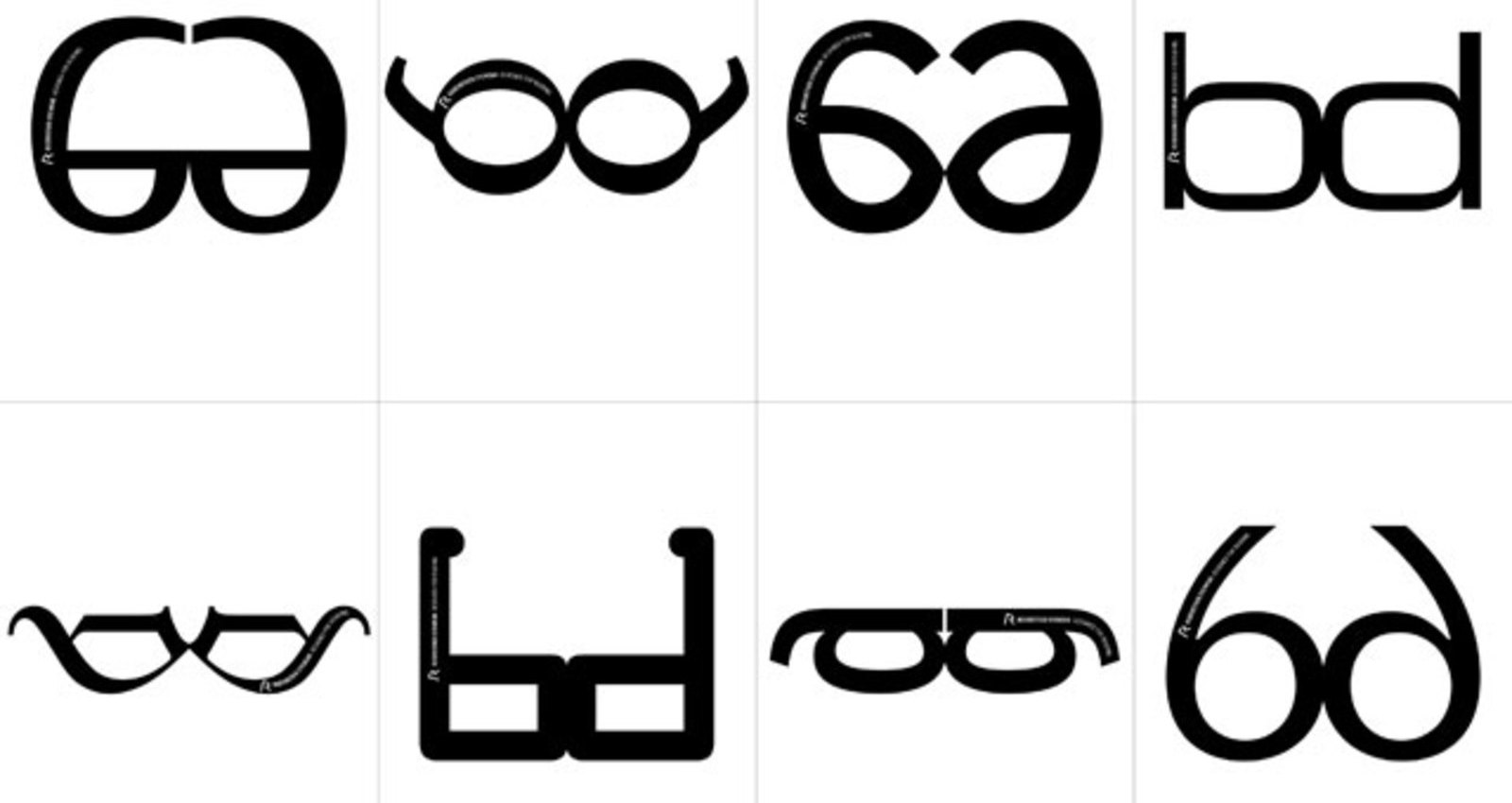 The Rodenstock Font Glasses