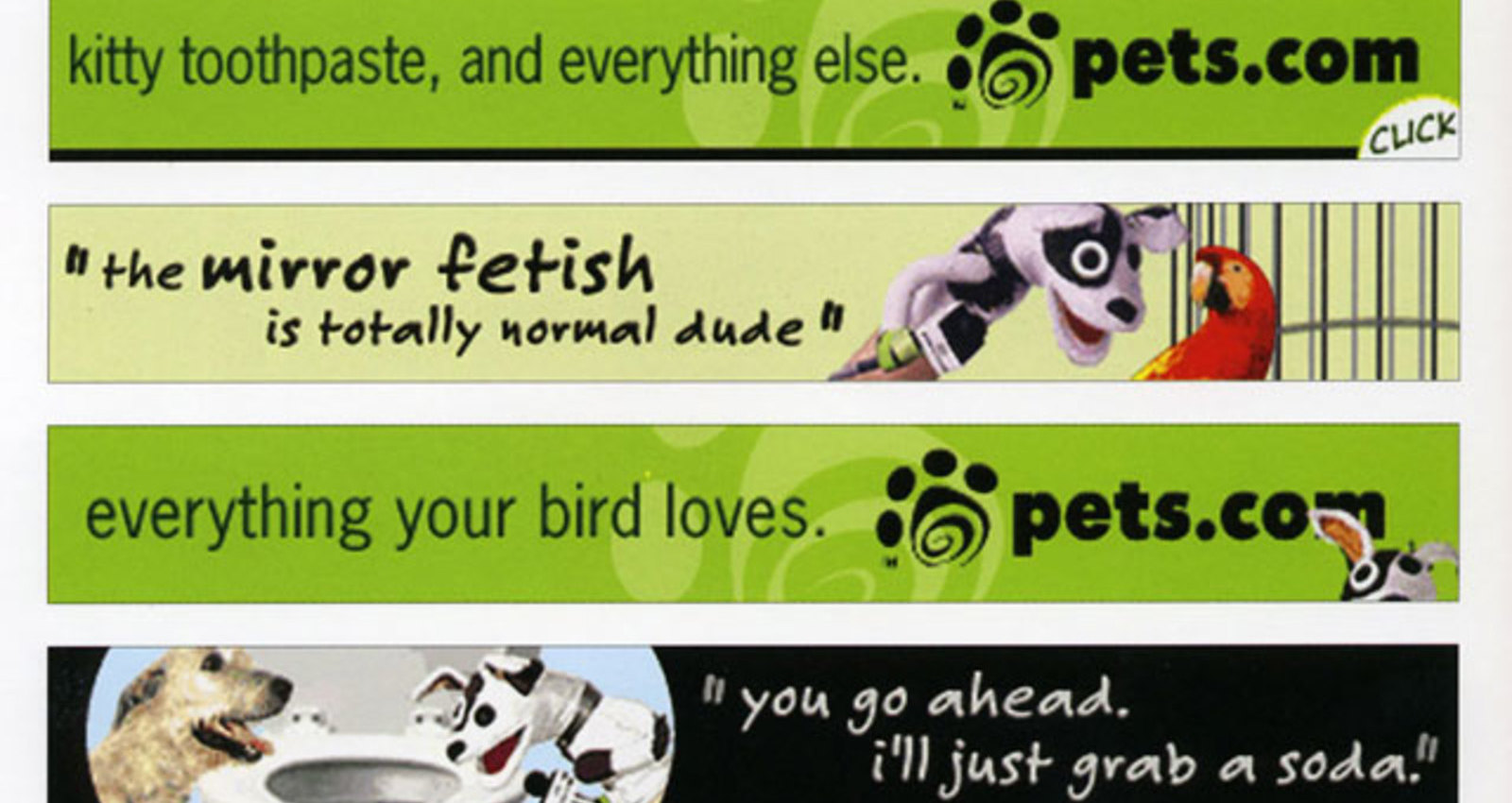 Pets.com Banners