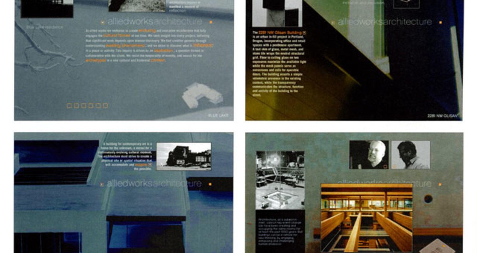 Allied Works Architecture website