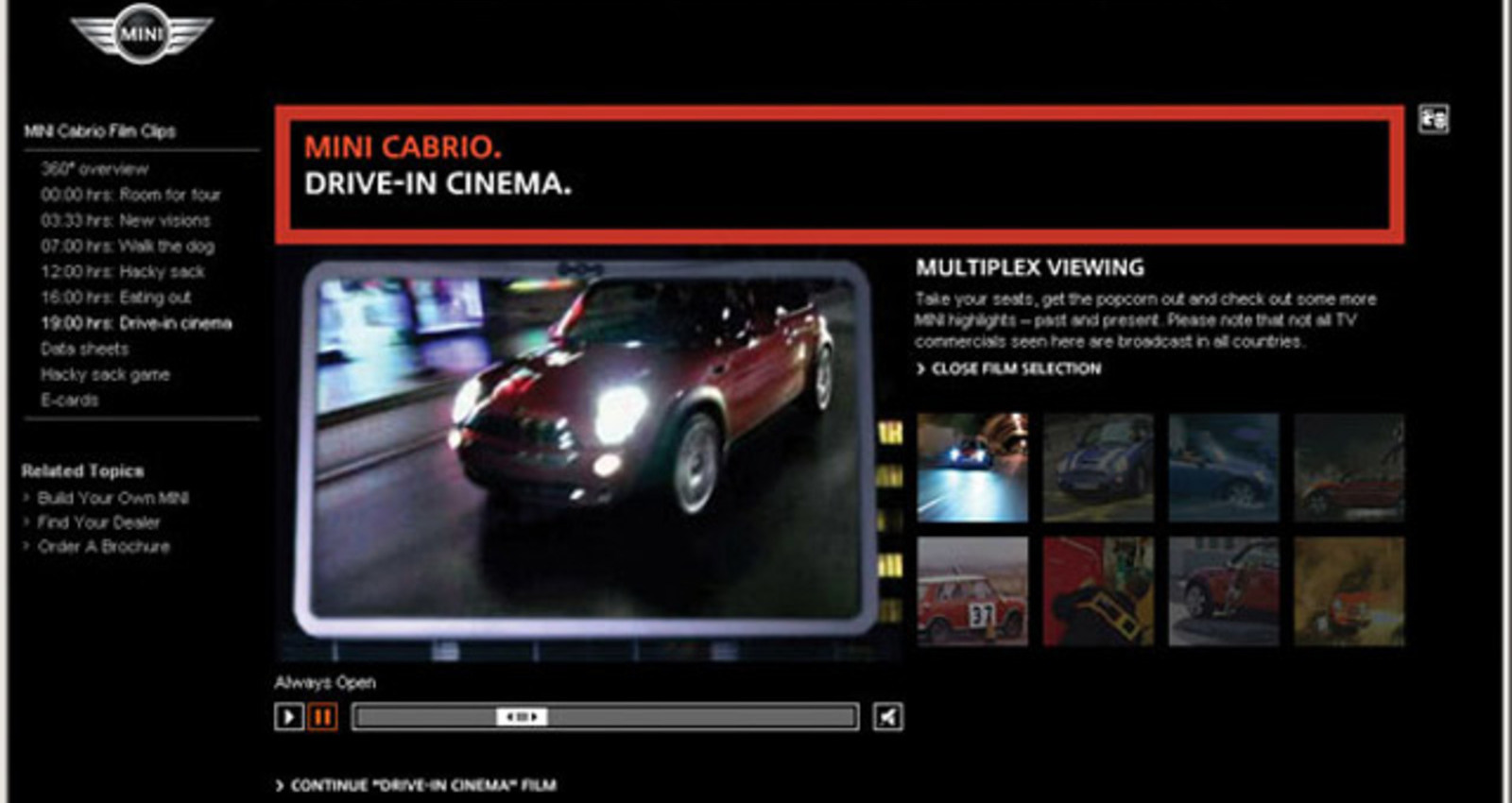MINI Cabrio Film Clips