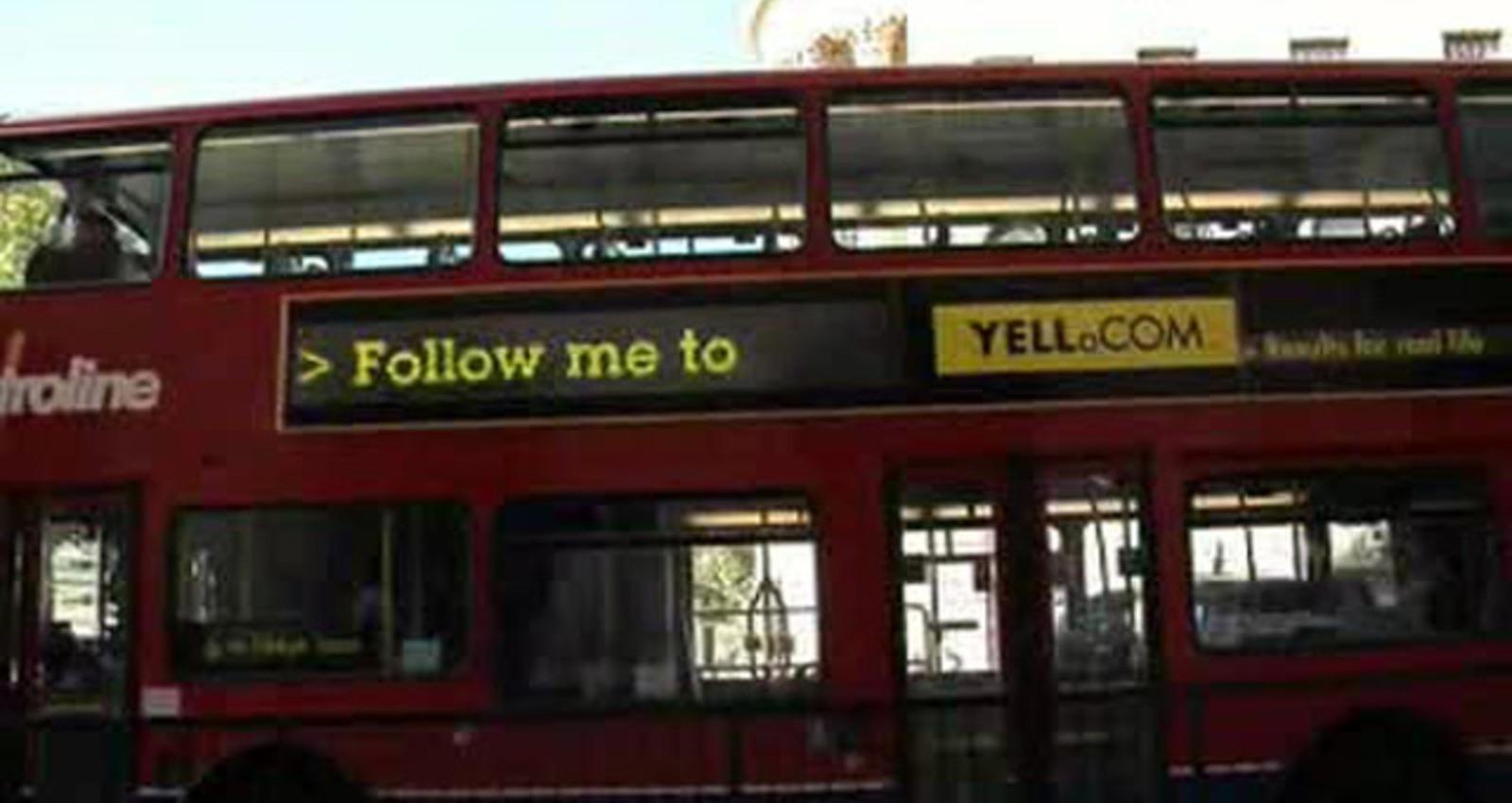 Yell.com GPS Bus Ads