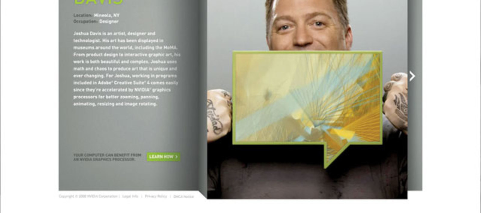 Nvidia Speak Visual site