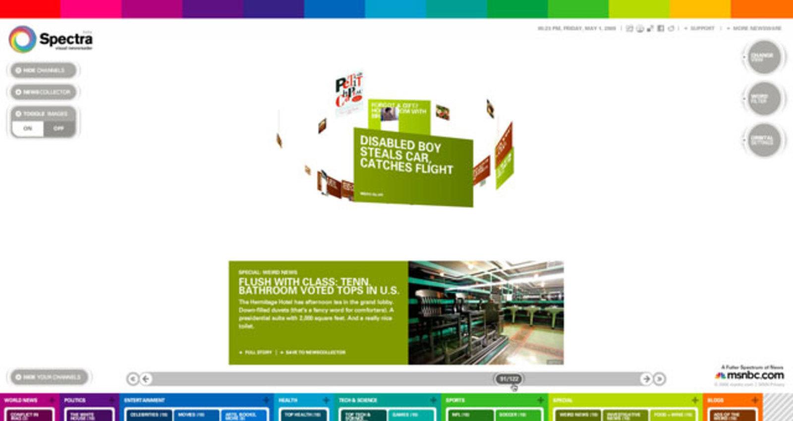 Spectra Visual Newsreader