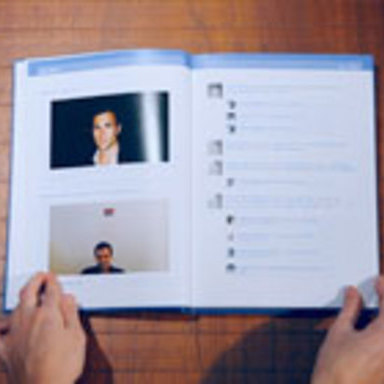 When facebook becomes a book