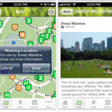 Central Park Conservancy iPhone Application