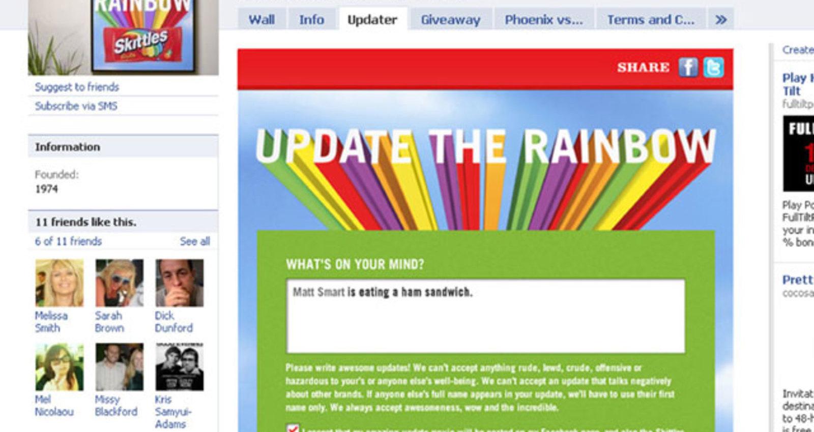 Skittles Super Mega Rainbow Updater