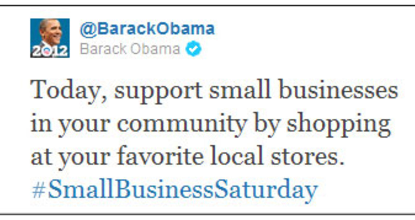 Small Business Gets an Official Day